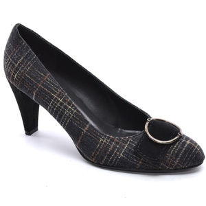 "Stuart Weitzman ""Buckleup"" Tweed Pumps 7.5 M"